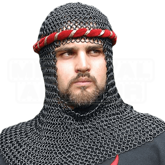 Blackened Chainmail Coif