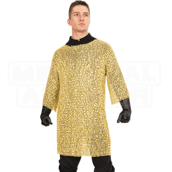 Brass Plated Chainmail Shirt