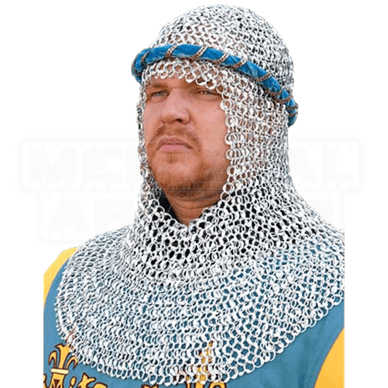 Riveted Aluminum Chainmail Coif