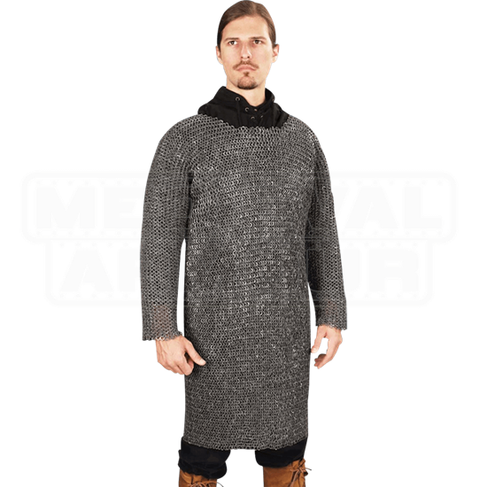 Riveted Dark Aluminum Chainmail Shirt