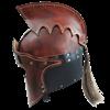 Praetorian Leather Crest Helm