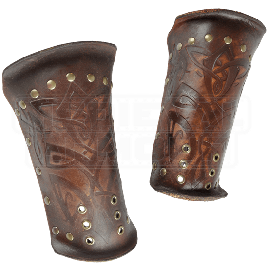 Odomar Viking Leather Bracers