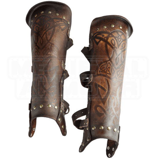 Odomar Viking Leather Greaves