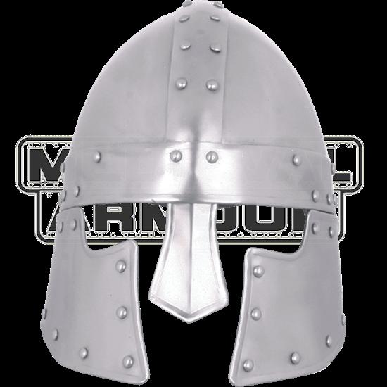 Steel Halanor Barbuta Helmet