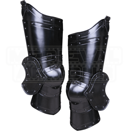 Blackened Balthasar Full Leg Guards