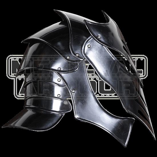 Reginald Darkened Steel Helmet