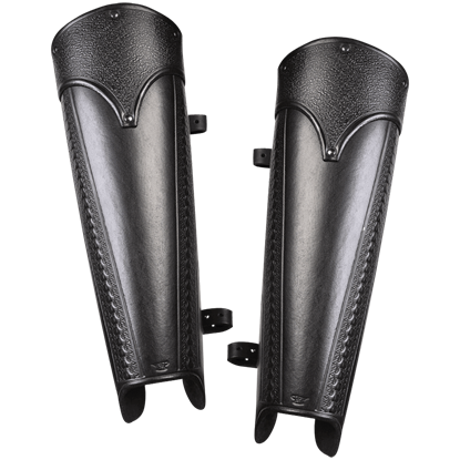 Anvard Leather Greaves