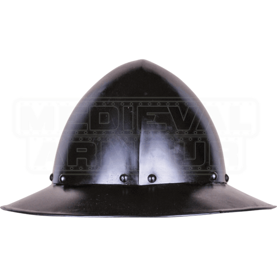 Ralf Darkened Kettle Hat Helm