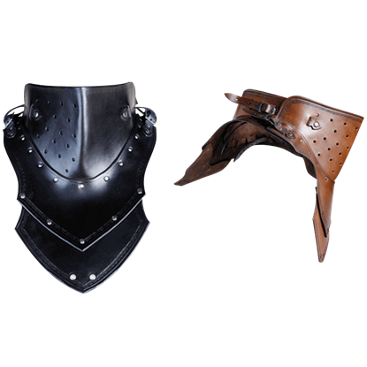 Luthor Leather Gorget