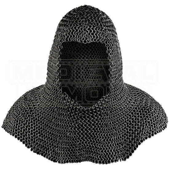 Richard Blackened Chainmail Coif