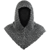 Richard Riveted Oiled Chainmail Coif