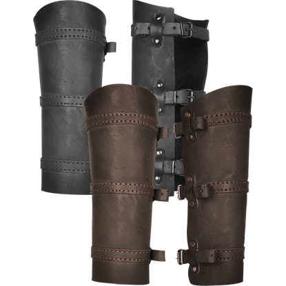 Simon Leather Greaves