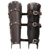 Baudouin Leather Greaves
