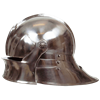 Gothic Sallet Helmet - Steel Finish