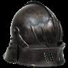 Gothic Sallet Helmet - Dark Metal Finish