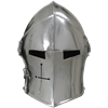 Visored Barbuta Helmet