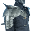 Large Dark Warrior Pauldrons with Sword Breakers