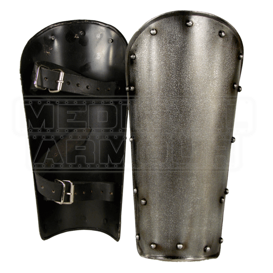 Dark Warrior Steel Greaves