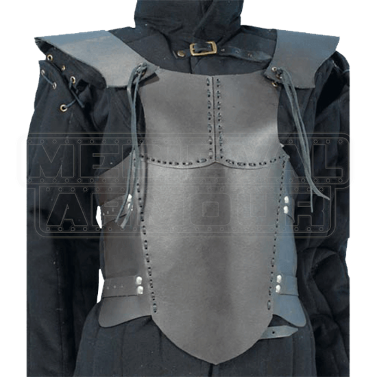 Childs Brown Leather Body Armour