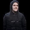 Black Alaric Chainmail Hood