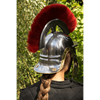 Roman Trooper Helmet with Red Plume
