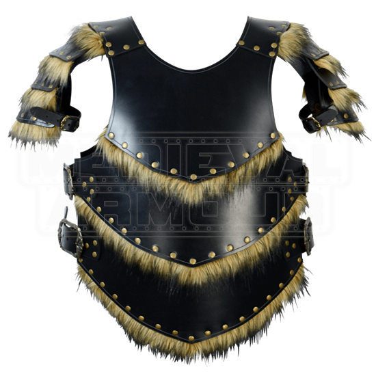 Savage Warrior Leather Armour with Pauldrons