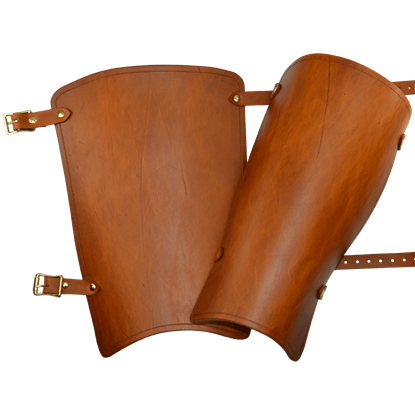 Simple Leather Greaves