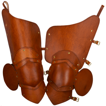 Knightly 3/4 Leather Leg Armour