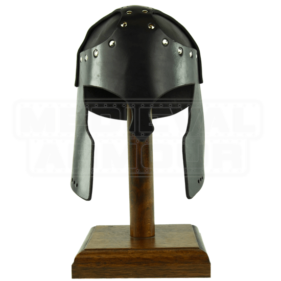 Leather Greek Helmet