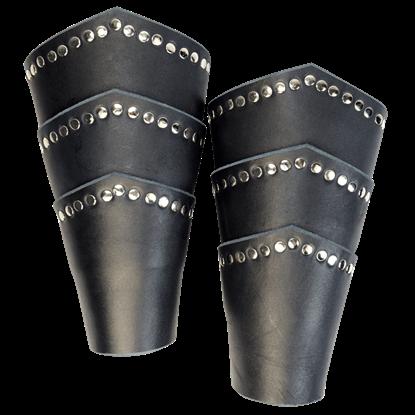 Knights Studded Arm Bracers