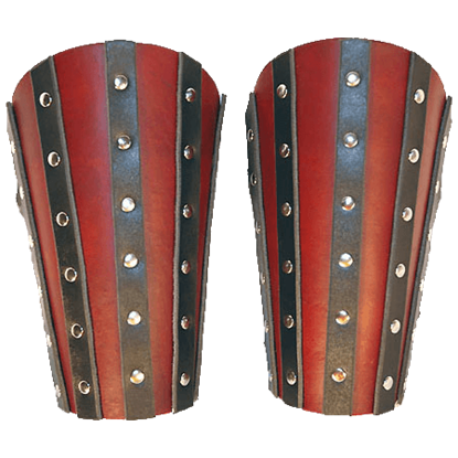 Banded Leather Arm Bracers - 7/8 oz.
