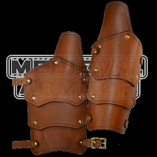 Reginald Leather Arm Bracers