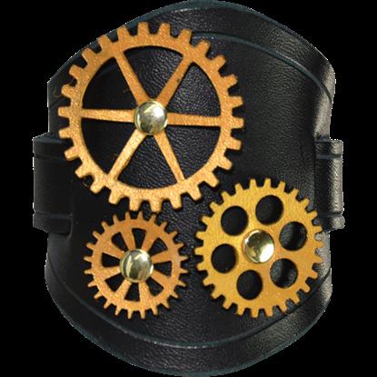 All Geared Up Steampunk Wrist Cuffs