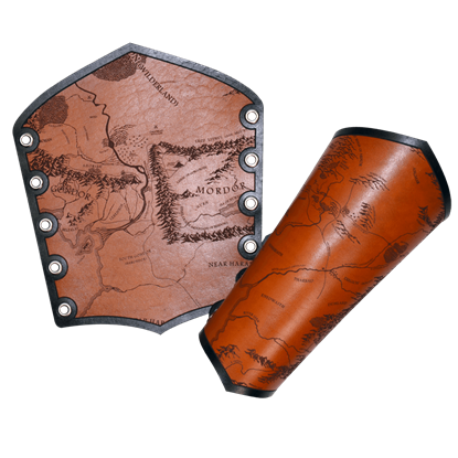 Middle Earth Map Bracers