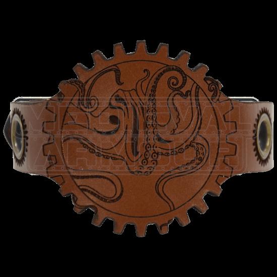 Steampunk Octopus Wrist Cuff
