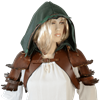Hooded Woodland Bolero Jacket with Pauldrons