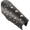 Chevron Leather Bracers - Black