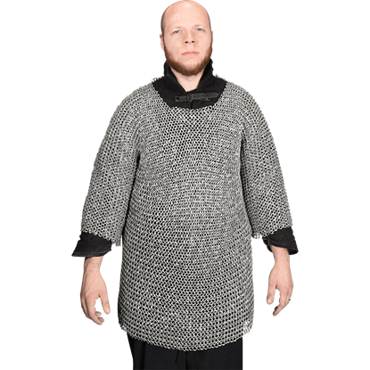 Flat Ring Wedge Riveted Chainmail Haubergeon