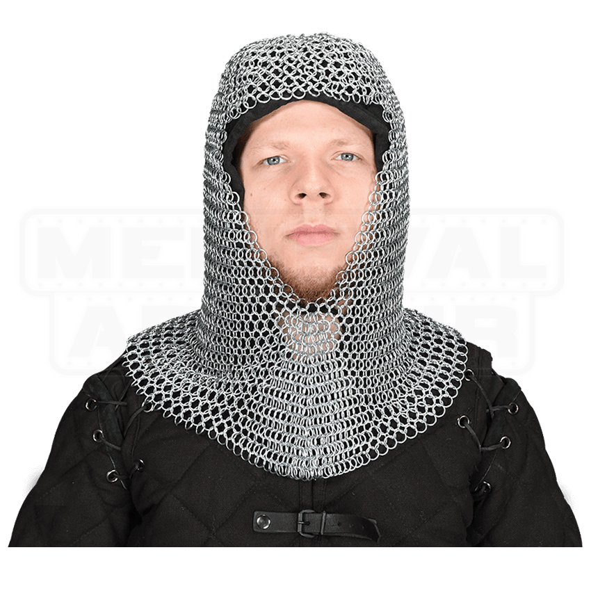 Butted Chainmail Coif - HW-700601-L by Medieval Armour ...