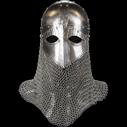 Viking Helmet with Aventail - 16 Gauge