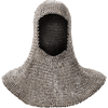 Flat Ring Round Riveted Chainmail Coif