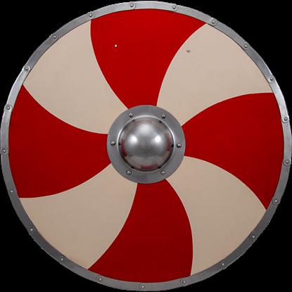 Viking Warriors Shield - Red and Cream
