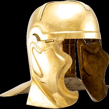 Brass Cavalier Roman Helmet