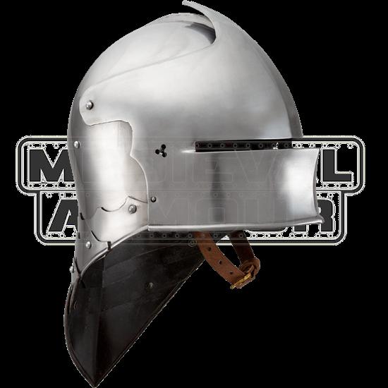 German Sallet Helmet - Polished