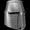 14th Century Great Helmet - Polished