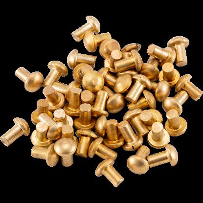 Brass Mushroom Rivets