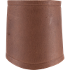 Simple Leather Wrist Cuff - Brown