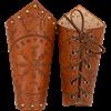 Helm of Awe Leather Arm Bracers