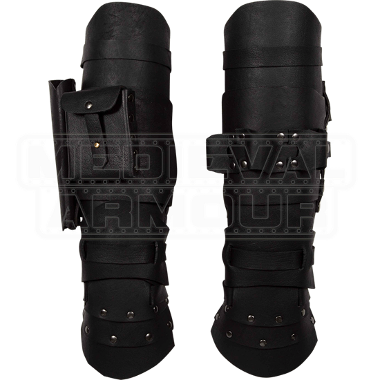 Geralt Leather Greaves