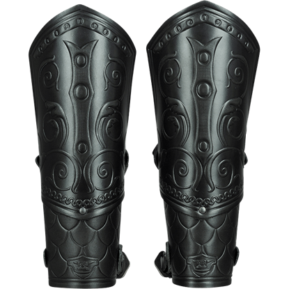 Leather Woodland Elf Bracers Armor SCA LARP Vembraces medieval fantasy Elven